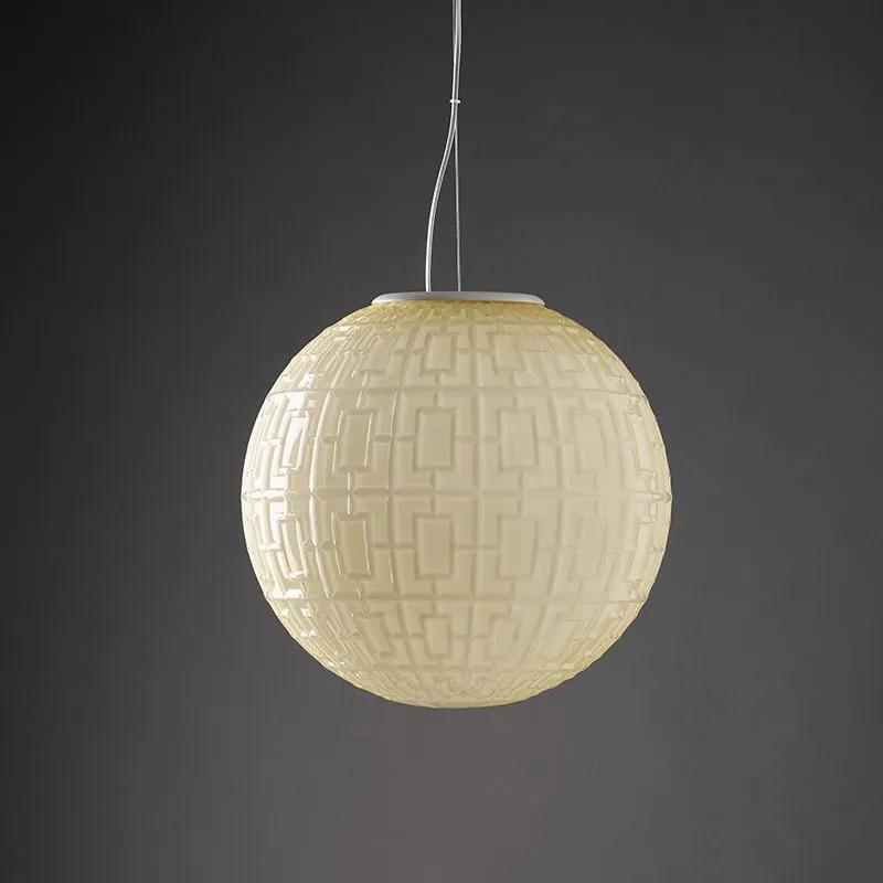 Ball - Pendul galben cu aspect texturat