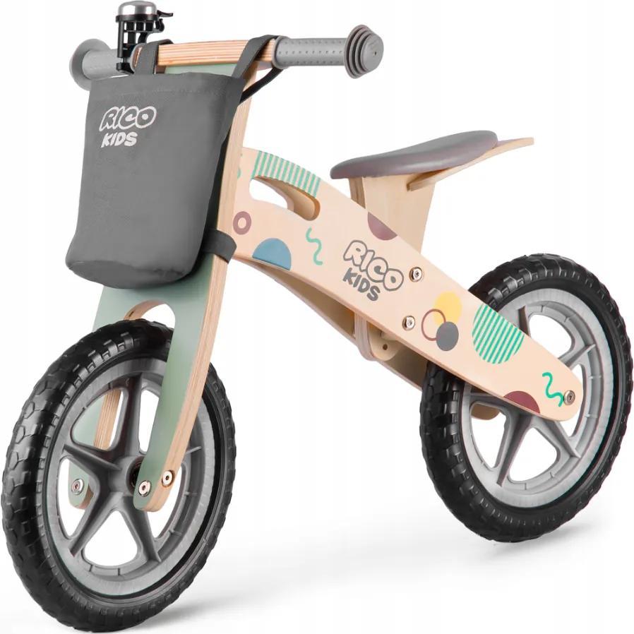 Bicicletă fără pedale din lemn Ricokids Lucas