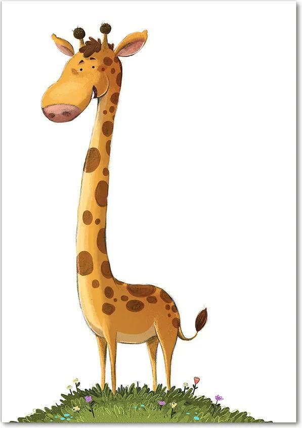 Tablou pe sticlă acrilică Girafă