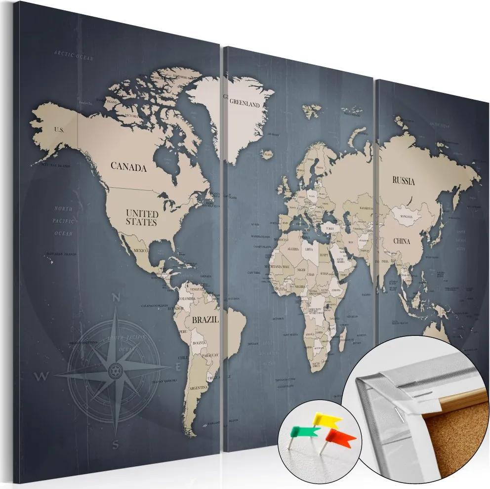 Tablou din plută - Anthracitic World 120x80 cm