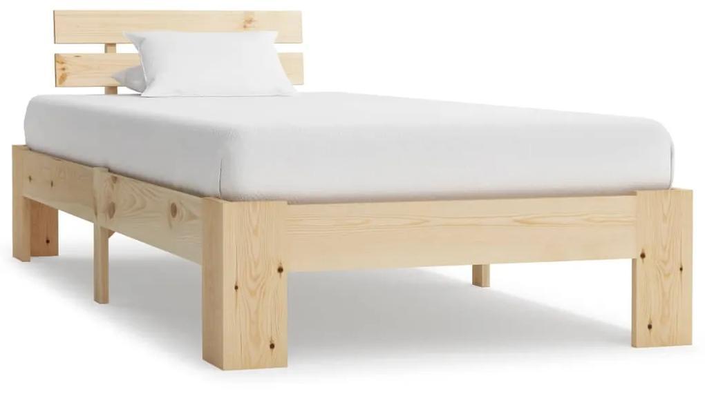 283160 vidaXL Cadru de pat, 90 x 200 cm, lemn masiv de pin