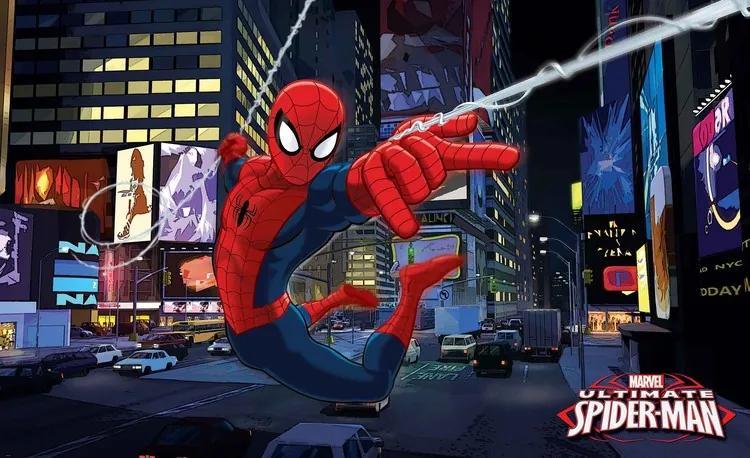 Spiderman Marvel Fototapet, (312 x 219 cm)
