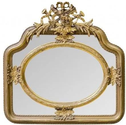 Oglinda patrata aurie cu rama din lemn 107 cm cm Baroque
