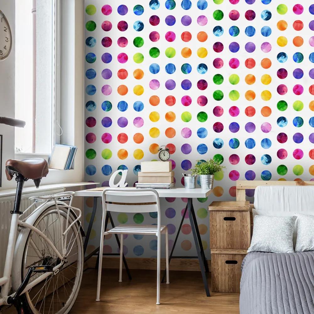 Tapet Bimago - Colourful Dots + Adeziv gratuit role 50x1000 cm