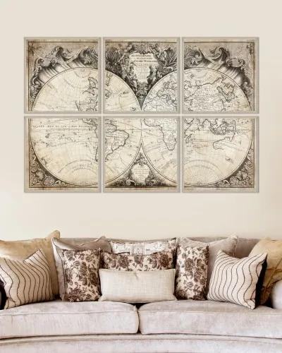 Tablou Framed Art Mappemonde
