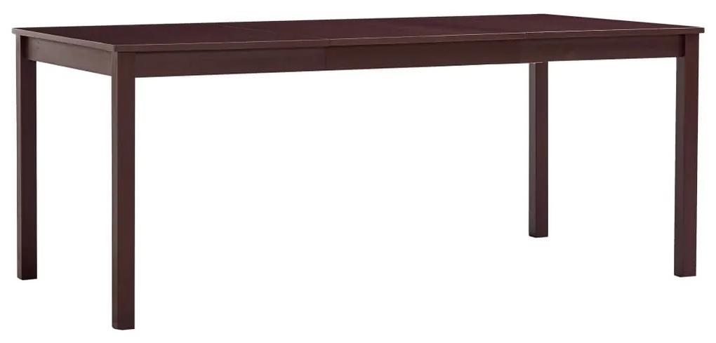 283407 vidaXL Masă de bucătărie, maro închis, 180 x 90 x 73 cm, lemn de pin