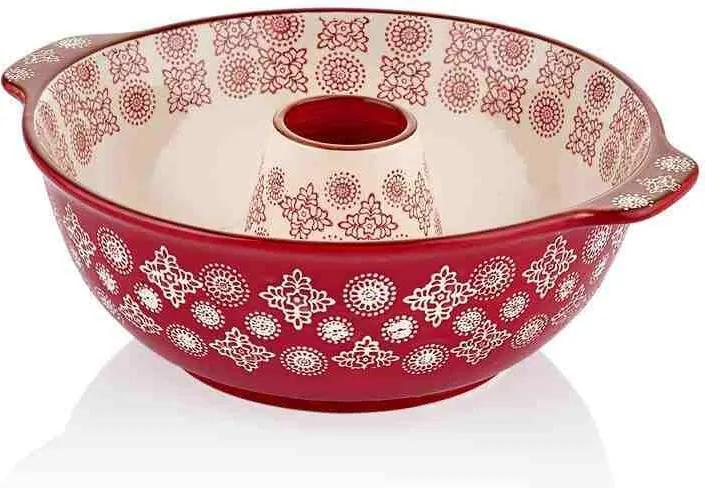 Forma Rotund Rosu pentru copt 30x26x9 cm