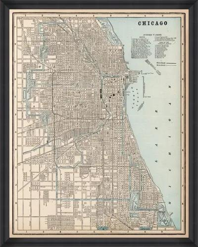 Tablou Framed Art Chicago Map