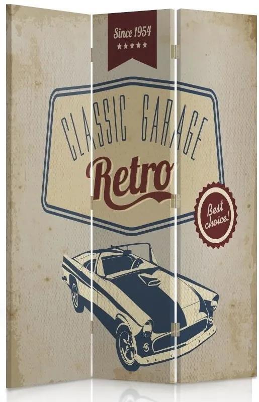 CARO Paravan - Classic Garage Retro | tripartit | reversibil 110x150 cm