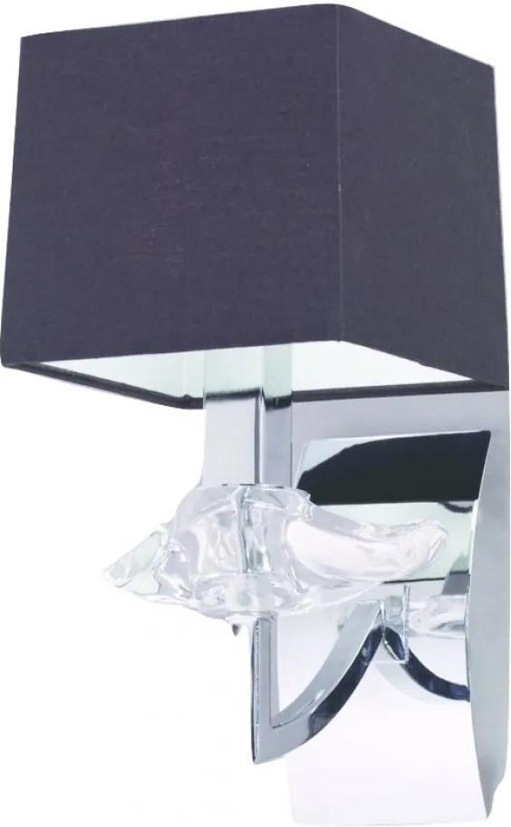 Mantra AKIRA CHROME BLACK SHADE 0786 Aplice cu brațe crom metal 1*E14 max20W IP20