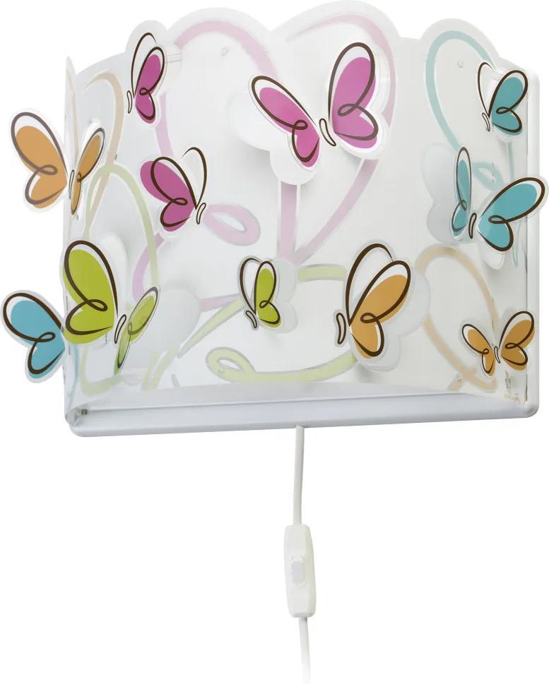 Dalber 62148 Aplice perete pentru copii Butterfly plastic