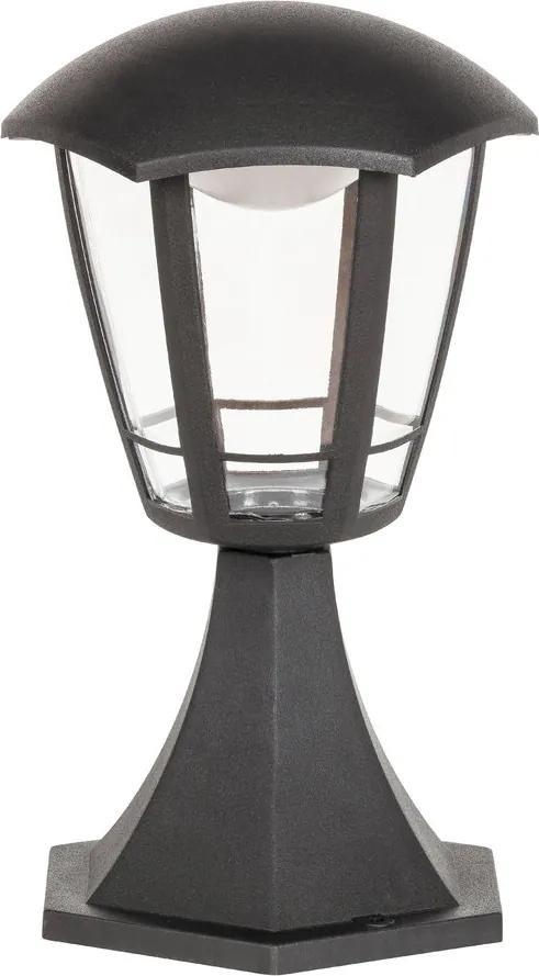 Rábalux Sorrento 8127 Stalpi și lampadare de exterior negru mat transparent LED 8W 30 x 16,5 x 16,5 cm
