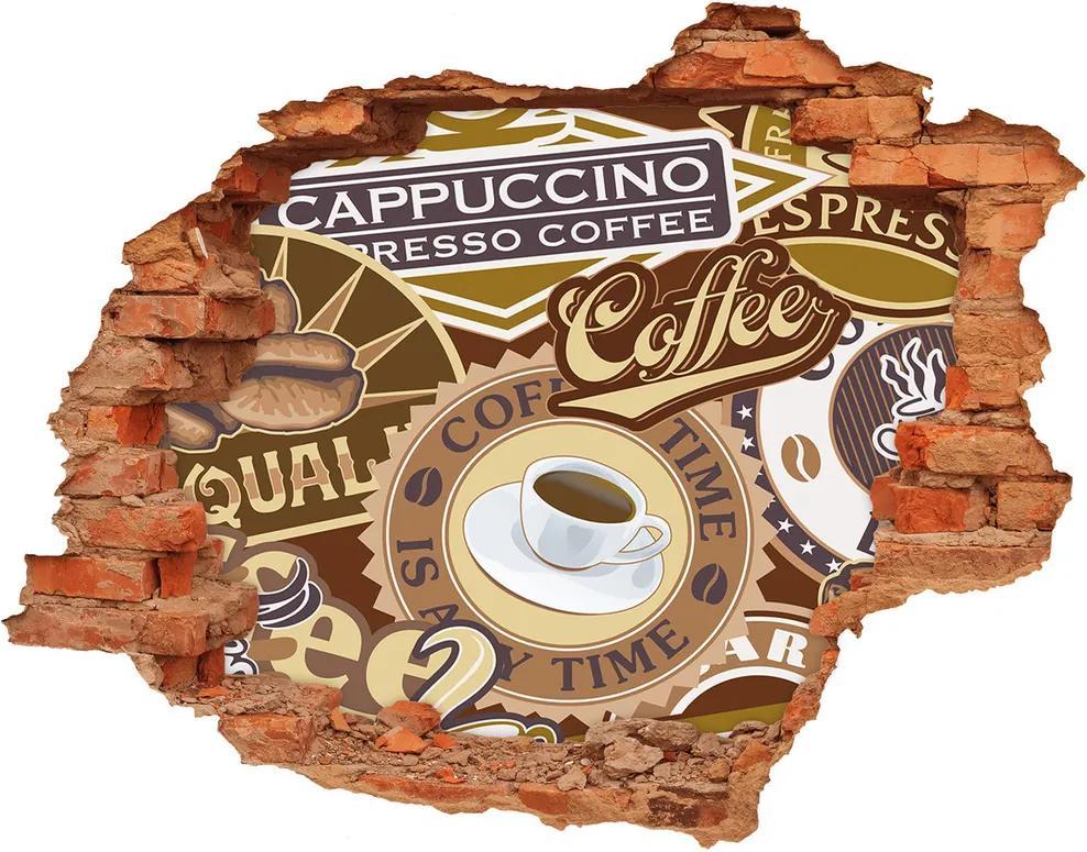 Autocolant 3D gaura cu priveliște Cafenea