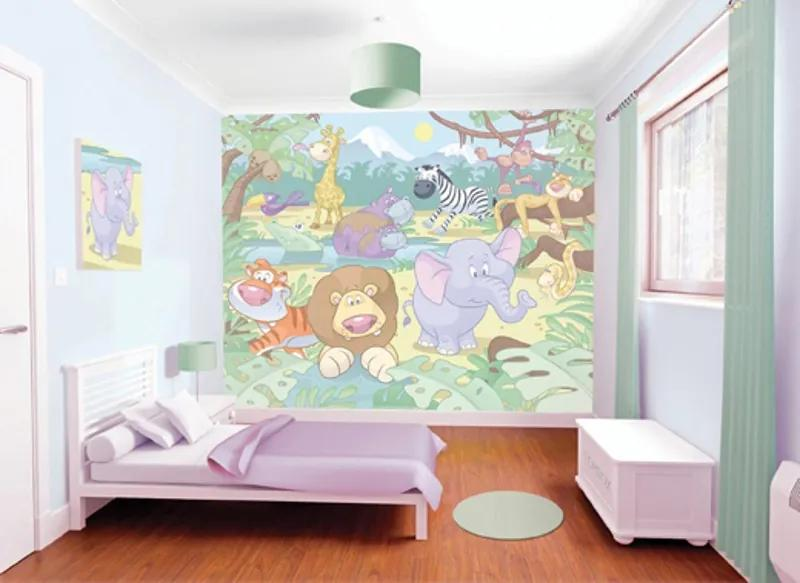 Walltastic Baby Džungle - fototapet pe perete 305x244 cm