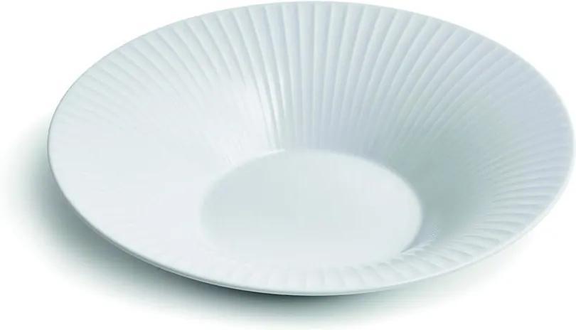 Farfurie din porțelan pentru supă Kähler Design Hammershoi, ⌀ 26 cm, alb
