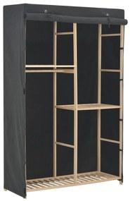 248188 vidaXL Șifonier cu 3 rafturi, gri, 110 x 40 x 170 cm, material textil