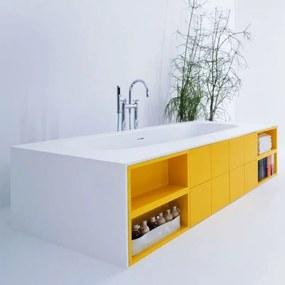 Cada de baie simple Bathtub with Cabinats Arlexitalia in Tecnoril