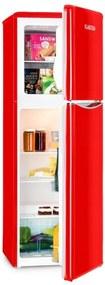 Klarstein MONROE XL, frigider combinat cu congelator, 97/39 L, A+, retrolook, culoare roșie
