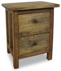 244487 vidaXL Noptieră din lemn masiv reciclat 40 x 30 x 51 cm