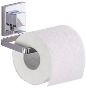 Suport pentru hârtie igienică Wenko Quadrio cu sistem de prindere Vacuum-Loc, până la 33 kg