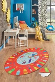 Covor pentru copii Palette Rosu - 140 x 190 cm