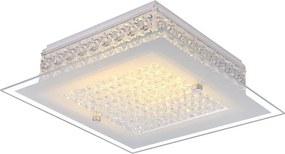 Globo 49349 Plafoniere cristal HEIDIR crom 1 x max. 12W 1030lm 3100K IP20 A
