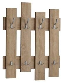 Cuier perete în decor de lemn de stejar Wave Oak