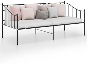 324773 vidaXL Cadru de pat canapea, negru, 90x200 cm, metal