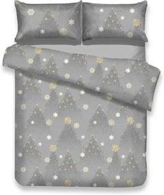 Lenjerie de pat din flanel cu motive de Crăciun pentru pat dublu AmeliaHome Silentnight, 160 x 200 cm