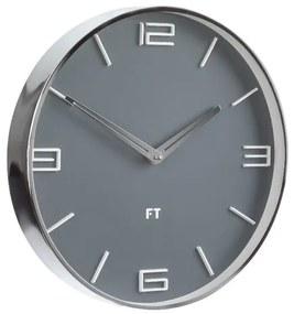 Ceas de perete Future Time FT3010GY Flat Grey,  de design, diam. 30 cm
