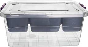 Cutie Orion de depozitare cu capac și compartimente, 20 l, 20 l