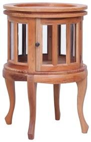 283844 vidaXL Dulap cu vitrină, natural, 50x50x76 cm, lemn masiv de mahon