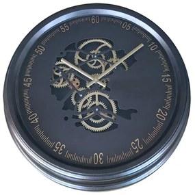 Ceas de perete cu mecanism Skeleton si geam 52,5x8,5 cm