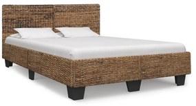283095 vidaXL Cadru de pat, culoare naturală, 160 x 200 cm, ratan natural