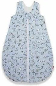 KidsDecor - Sac de dormit fara maneci Loving Bear 60 cm din Bumbac, 60x23 cm, 0-3 luni, Tog 0.5, Albastru
