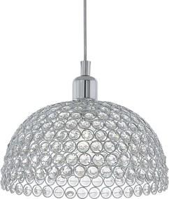 Eglo 78349 - Lustră pe cablu de cristal GILLINGHAM 1xE27/60W/230V