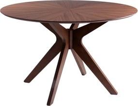 Masă dining cu aspect de lemn de nuc sømcasa Carmel, ø 120 cm