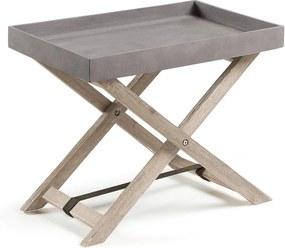 Măsuță pliabilă din lemn de salcâm La Forma Stahl, gri
