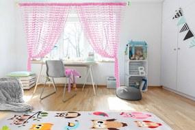 Perdele pentru copii Baby Doll-roz 250x240 cm