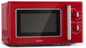 Klarstein Caroline, cuptor cu microunde 20l 700/1000 W Ø 25.5 cm QuickSelect retro roșu