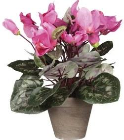 Floare artificiala, Cyclamen, roz