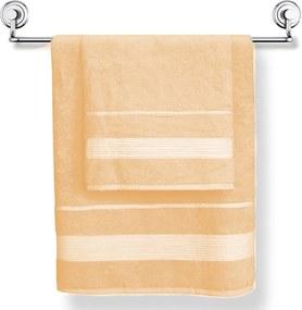 Prosop Moreno, persica, material cu fibre de bambus portocaliu 50x90 cm