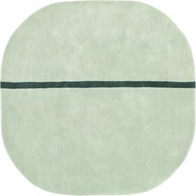 Covor Verde Oona 140x140cm NORMANN COPENHAGEN - Lana Verde Lungime (140cm) x Latime (140cm)