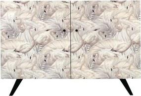Bufet inferior multicolor din lemn de molid 115 cm Flamingo Denzzo