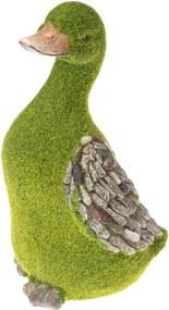 Decorațiune de grădină în formă de gâscă Dakls, verde
