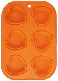 Orion Formă din silicon pentru brioșe Inimă portocaliu
