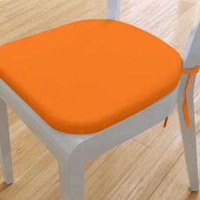 Goldea pernă pentru scaun rotundă din bumbac 39x37cm - portocaliu 39 x 37 cm