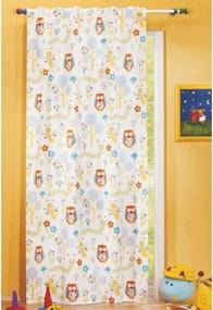 Draperie pentru copii Bufniţa şi omida, 135 x 245 cm