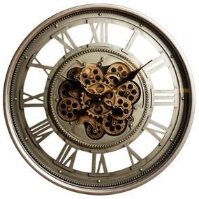 Ceas de perete metal si sticla cifre romane 60cm
