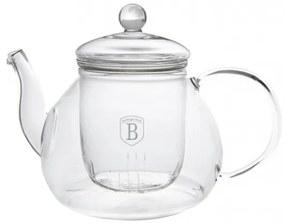 Ceainic din sticla cu infuzor 1L Black Silver Collection Berlinger Haus BH 1363A